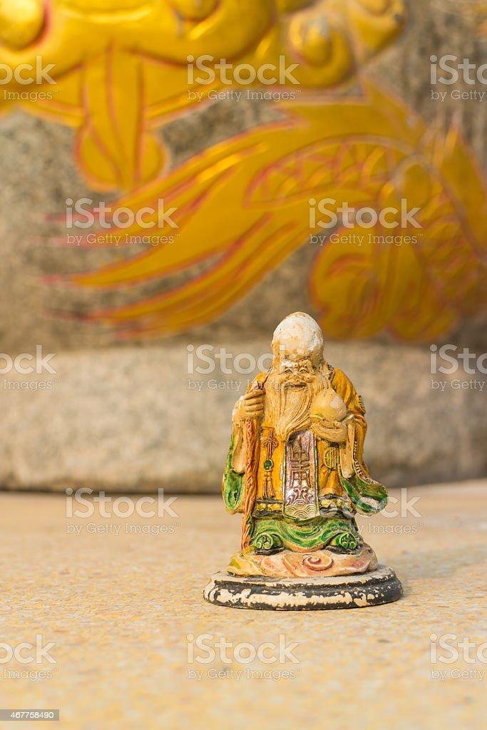 Chinese Statue of Fu stock photo