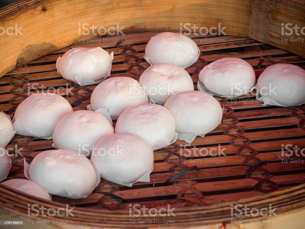 Chinese steam bun stock photo