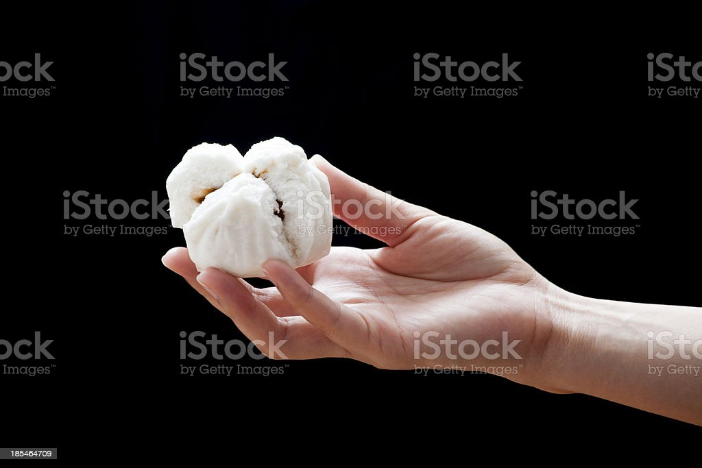 Chinese steamed barbecue pork bun (Dim Sum) royalty-free stock photo