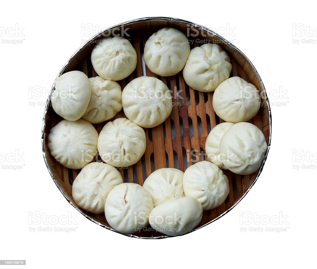 Chinese steamed bread stock photo