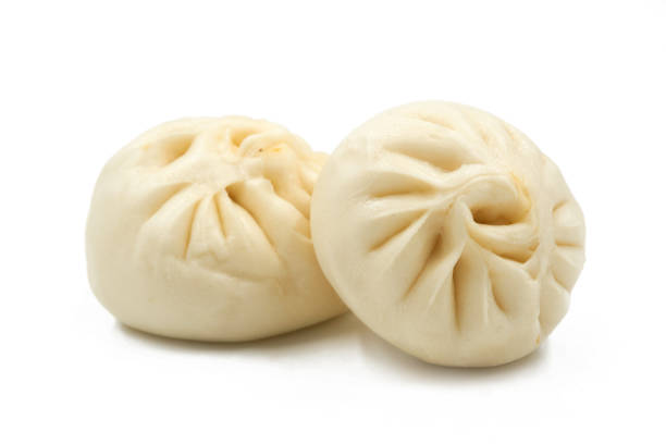 Chinese Steamed Buns isolated on white background. Chinese Steamed Buns isolated on white background. sweet bun stock pictures, royalty-free photos & images