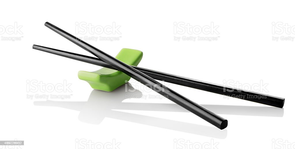 Chinese sticks on stand stock photo