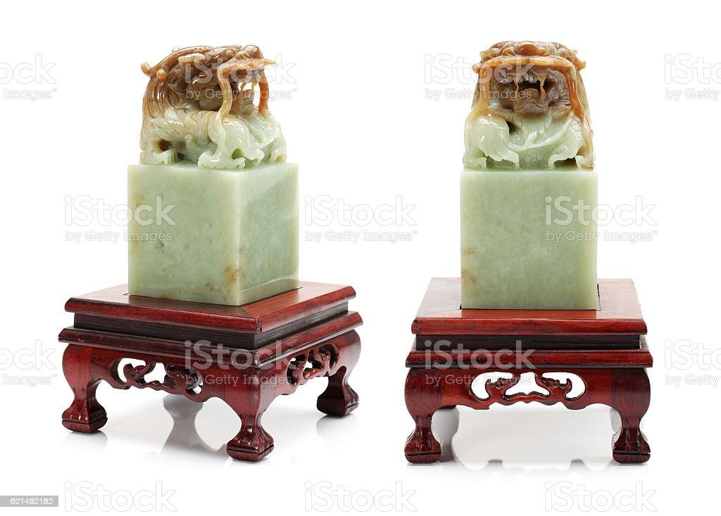 Chinesische Stein stamp Lizenzfreies stock-foto