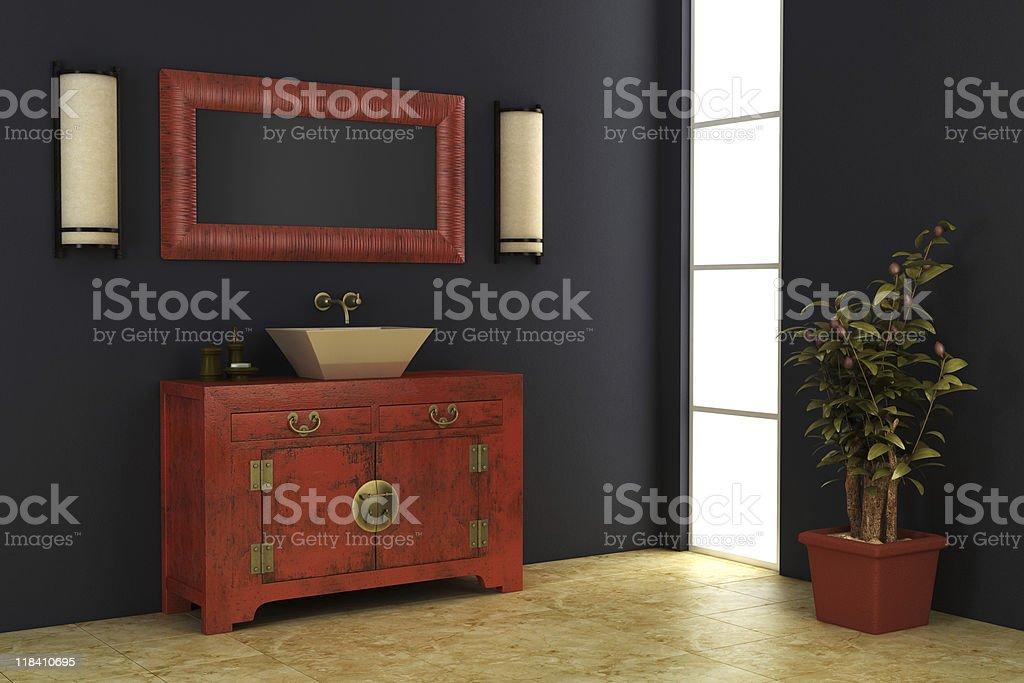 Chinesischen Stil Badezimmer Interieur Stockfoto und mehr Bilder von ...