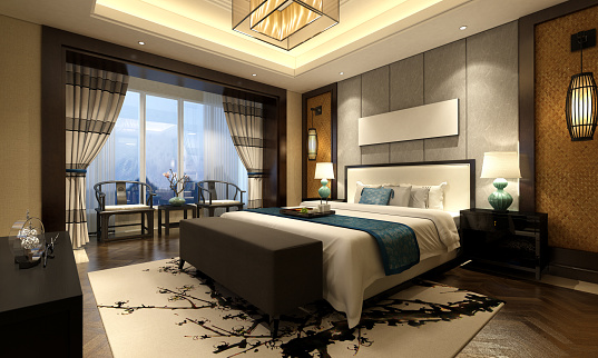Chinese Style Bedroom Interior