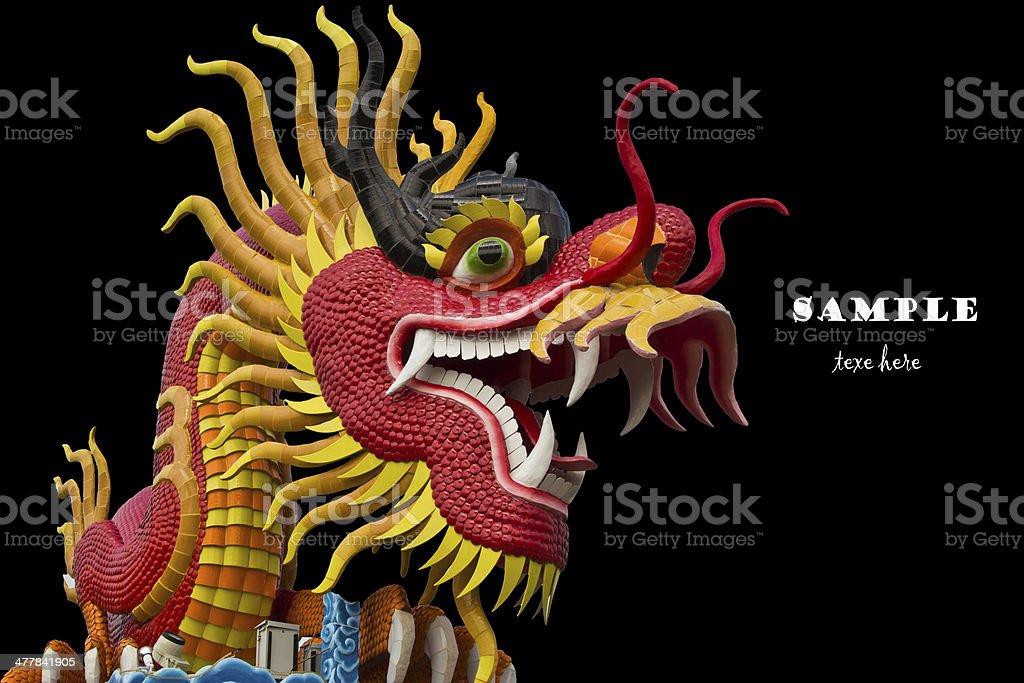 chinese style dragon statue at chonburi royalty-free stock photo