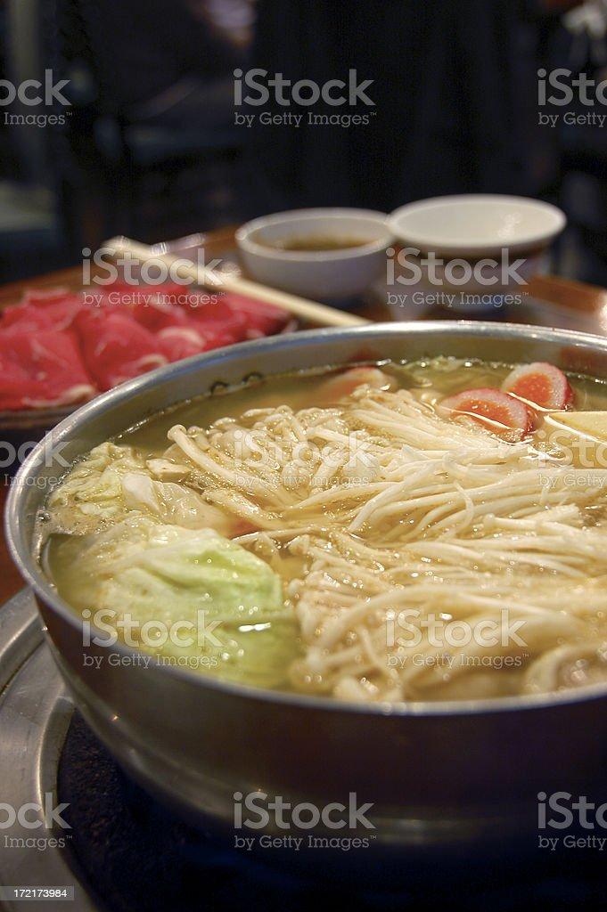 Chinese style hot pot royalty-free stock photo