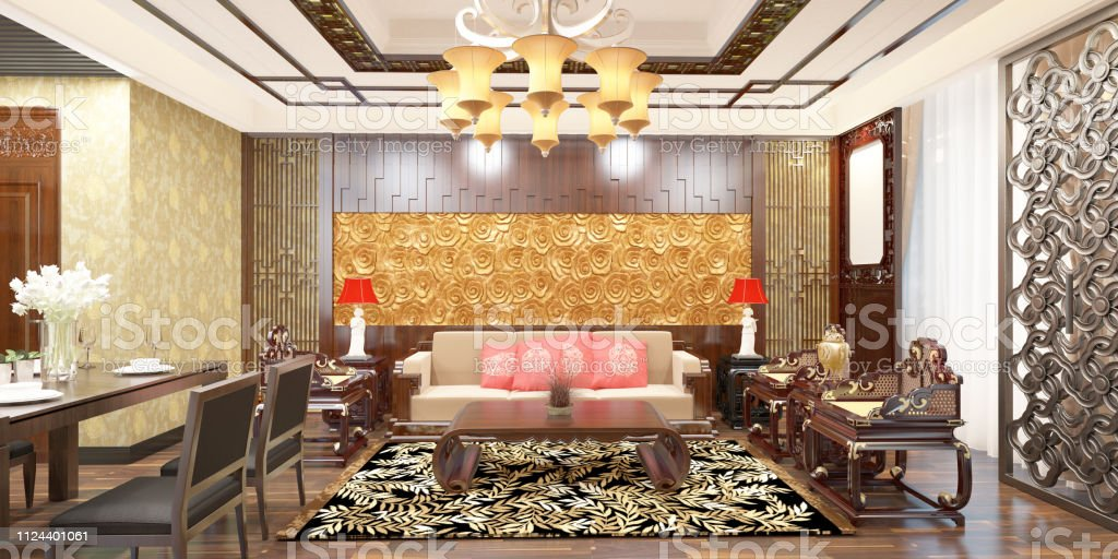 Chinese Style Living Room Interior Stock Photo Download Image Now Istock