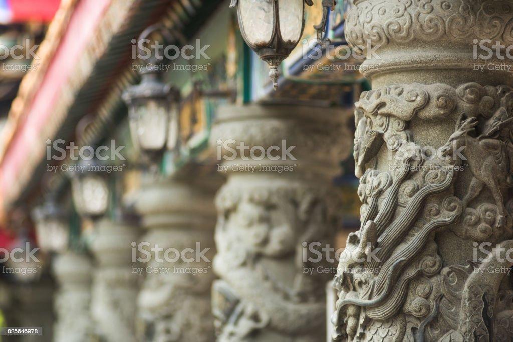 Chinese style poles stock photo