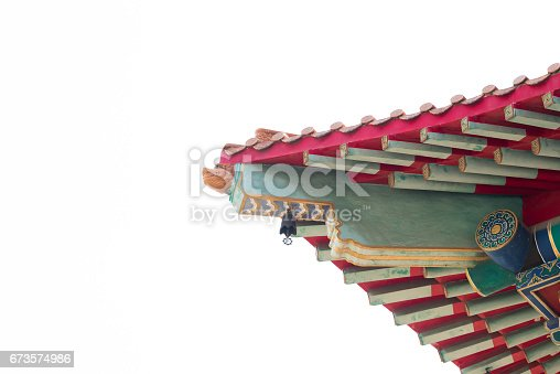 istock Chinese style temple roof. 673574986