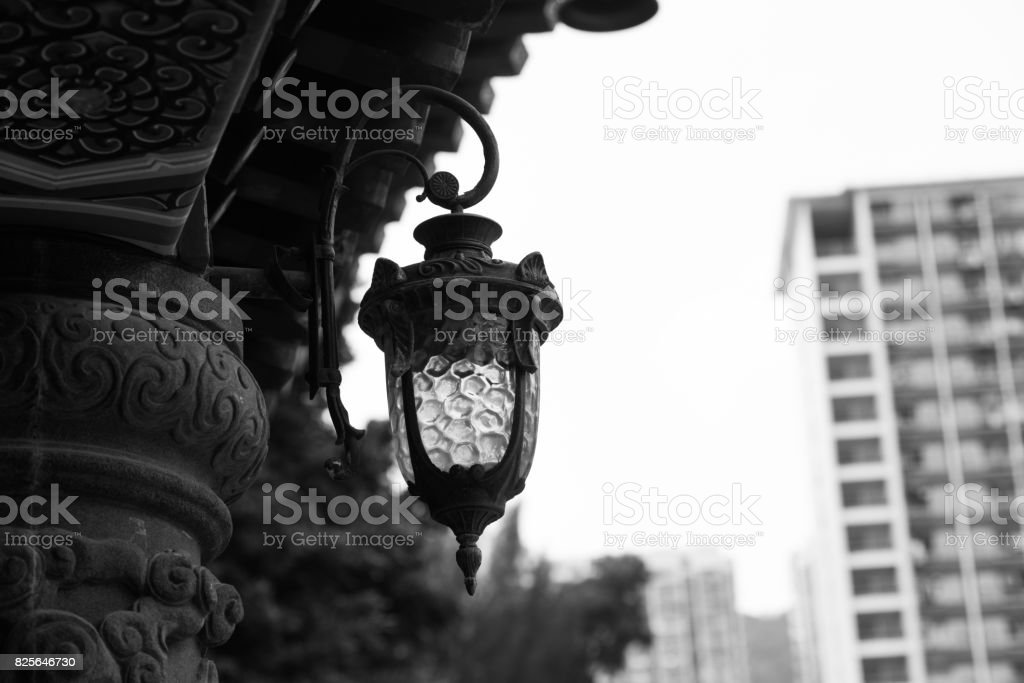 Chinese style temple roof stock photo