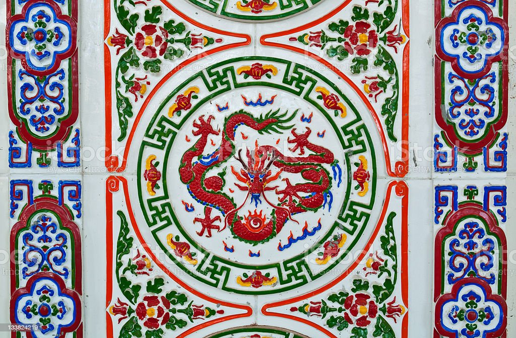 chinese style wall tiles royalty-free stock photo