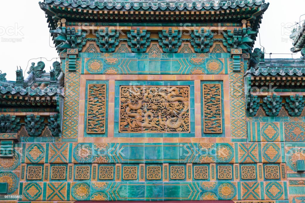 Chinese Styles Dragon Architectural Decoration stock photo