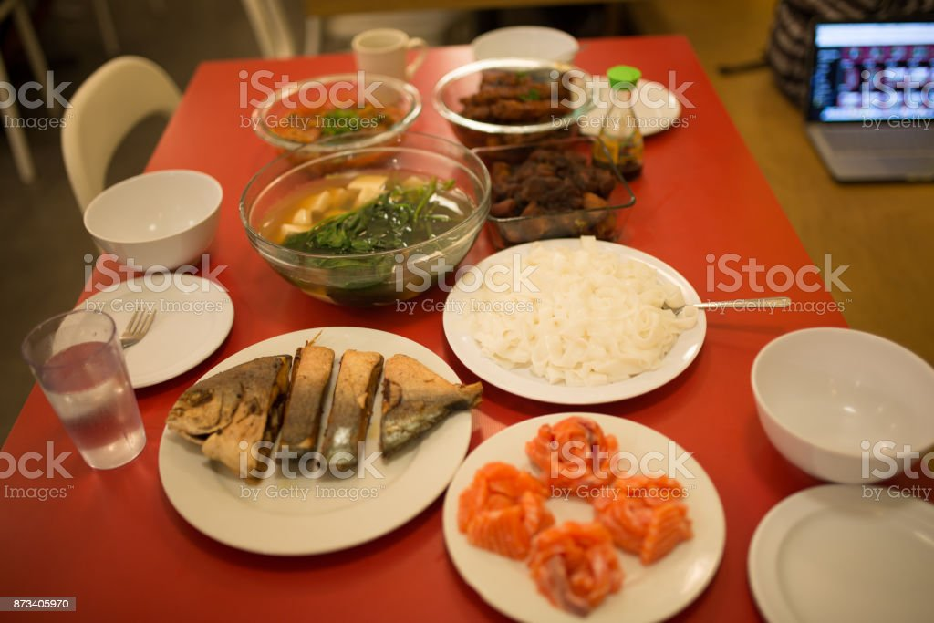 Chinese table stock photo