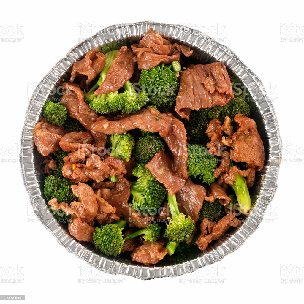 Chinese Take Out, Beef and Broccoli stock photo