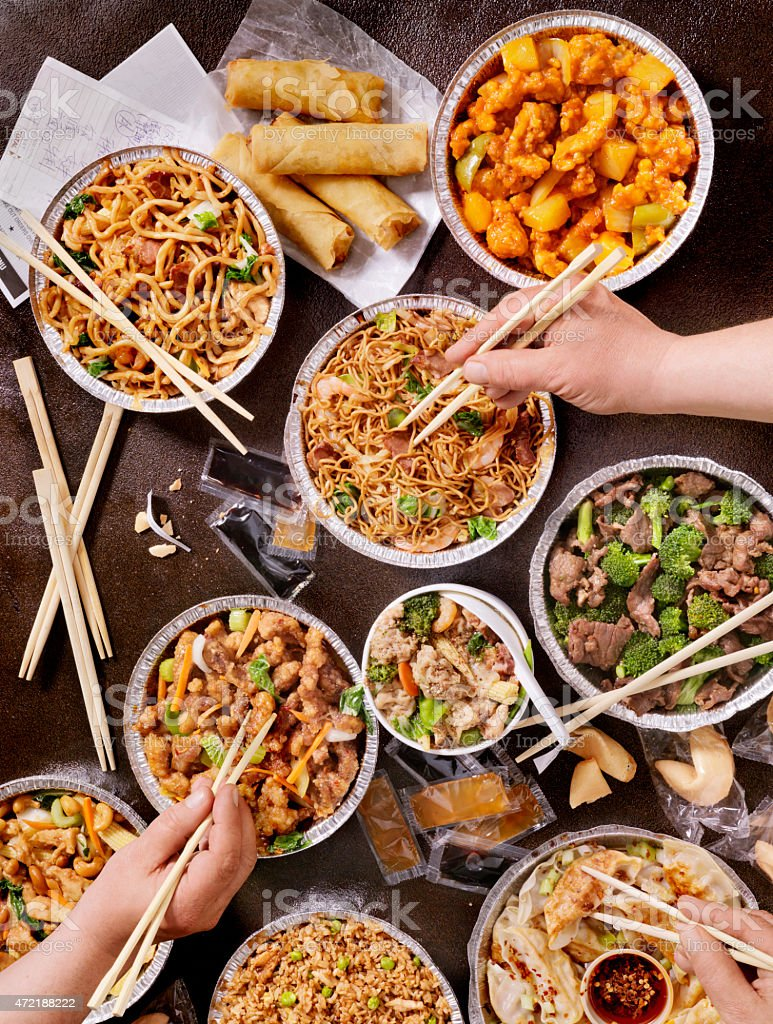 Chinese Take Out stock photo