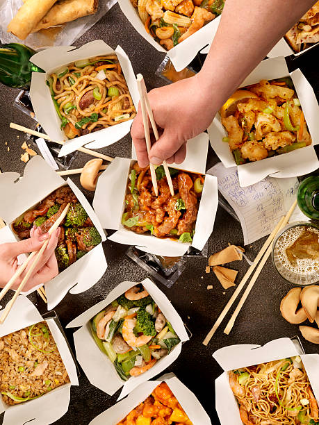 Chinese Take Out Dear inspector: there are several images from this series coming through that may look similar being uploaded.  They are not duplicates but have distinct differences.... Alcohol - NO alcohol. Hands NO hands.. thank you chinese takeout stock pictures, royalty-free photos & images