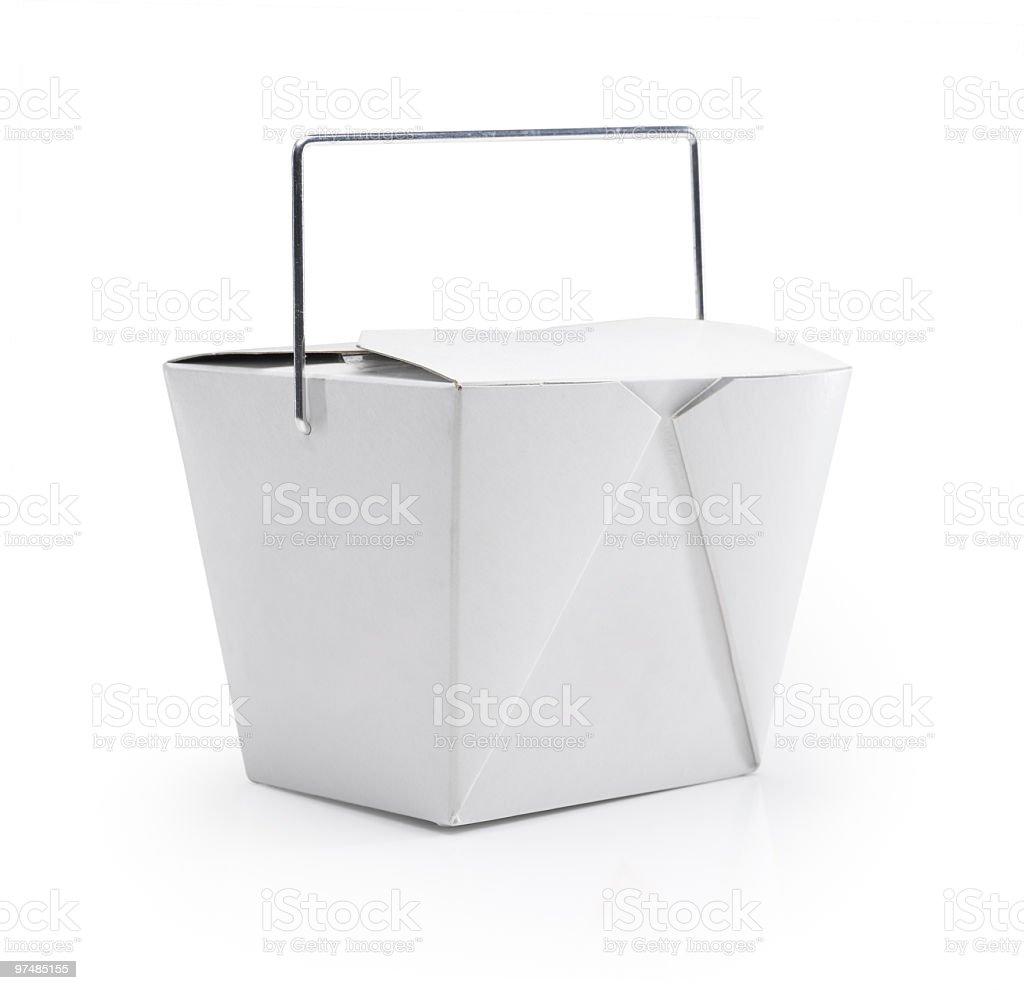 Chinese Takeaway Box stock photo