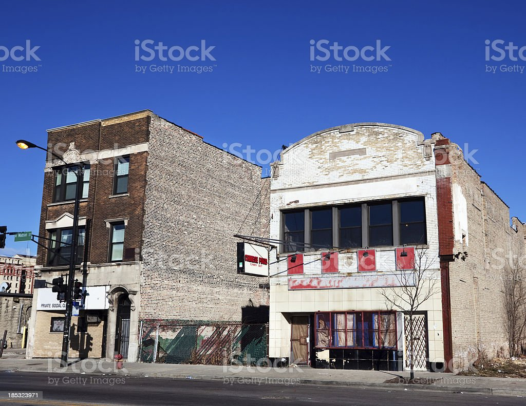 Chinese Takeaway Restaurant in West Garfield Park, Chicago royalty-free stock photo