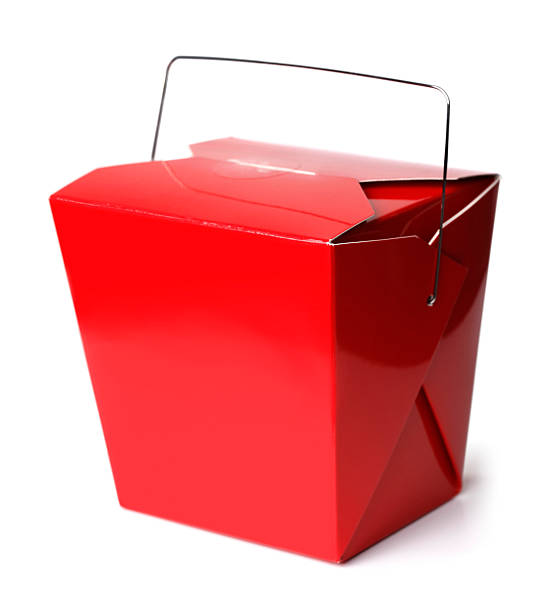 Chinese Take-Out Food Box A chinese take-out food container. chinese takeout stock pictures, royalty-free photos & images