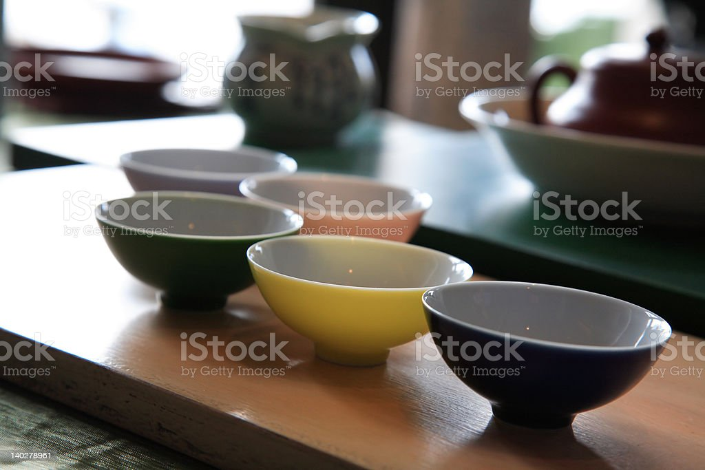 Chinese Tea Cups royalty-free stock photo