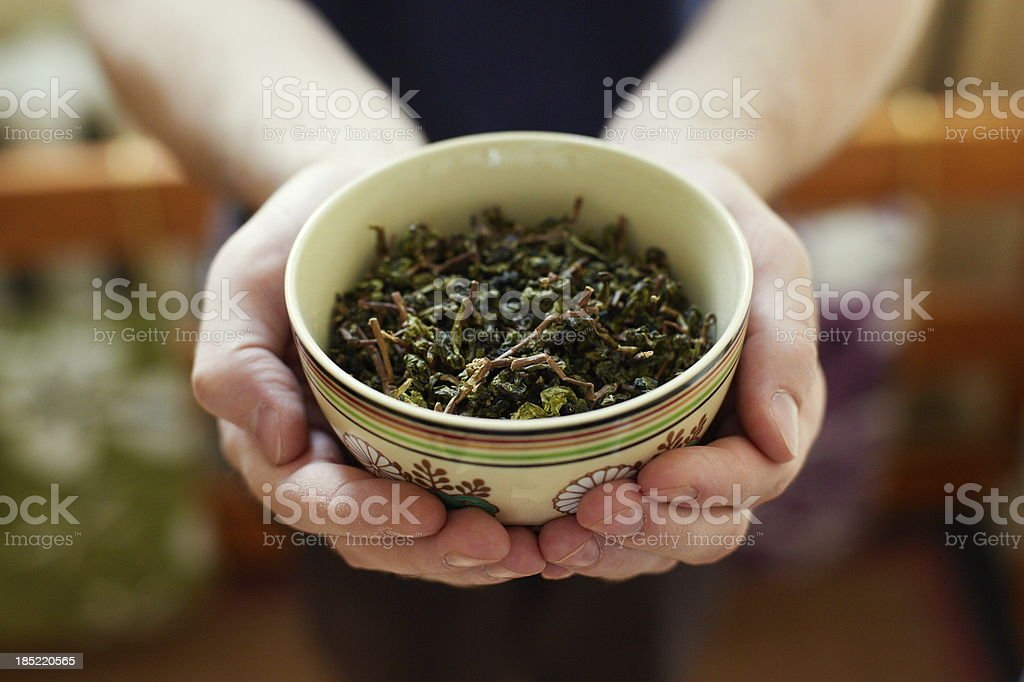 Chinese tea leaves royalty-free stock photo