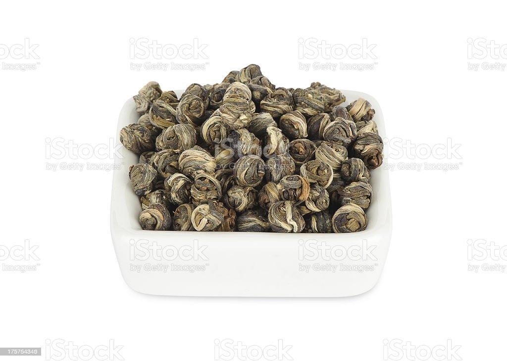 chinese tea pearl jasmine royalty-free stock photo