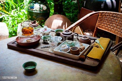 Traditional Chinese tea pot set