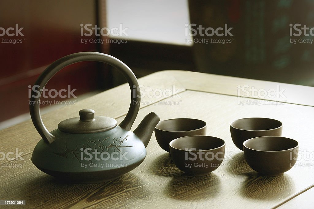 Chinese tea time stock photo