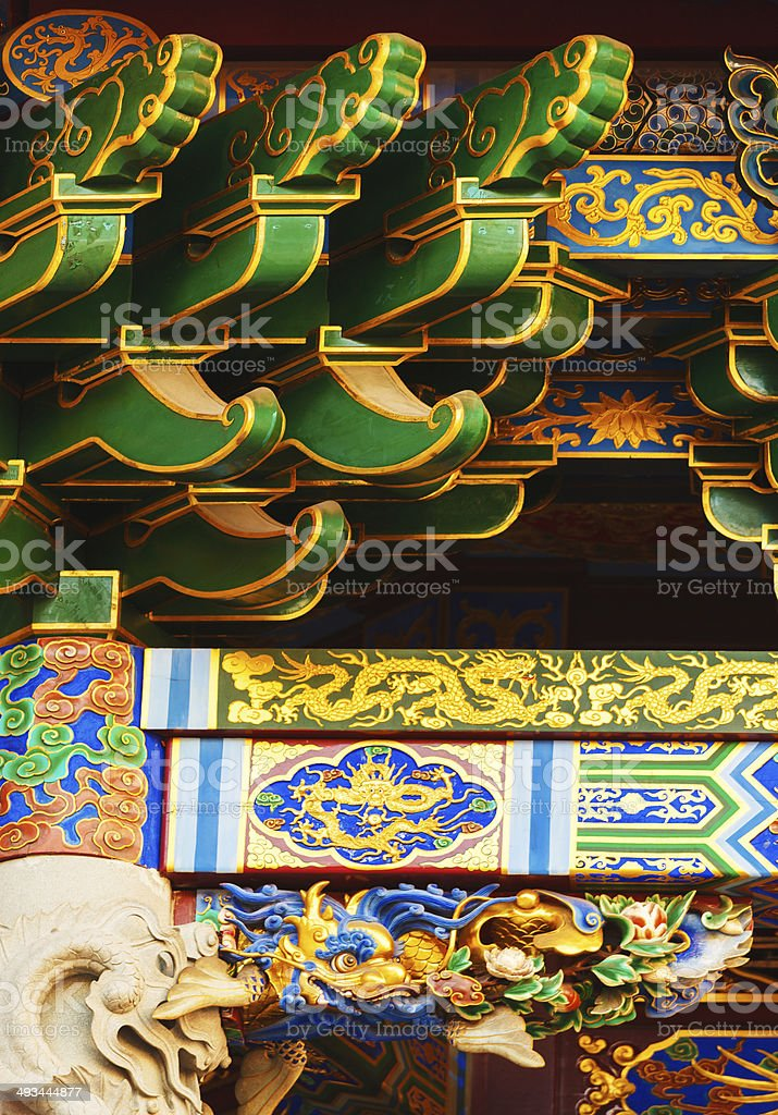 Chinese Temple detail stock photo