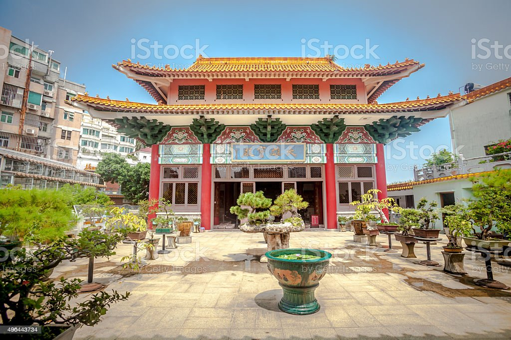 Chinese Temple in Macao stock photo