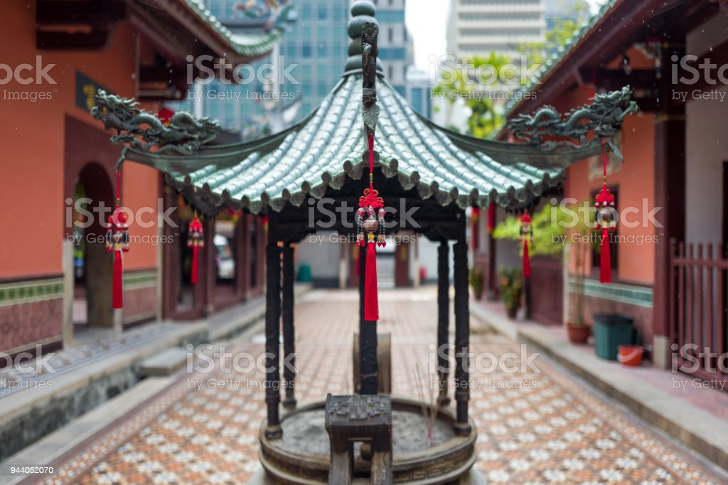 A chinese temple in Singapore stock photo