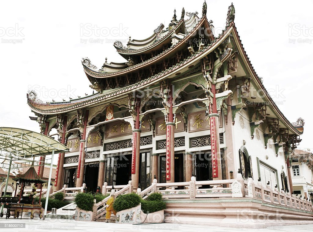 Chinese temple in Thailand,Bangkok. stock photo