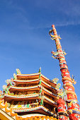 Chinese temple with dragon statue