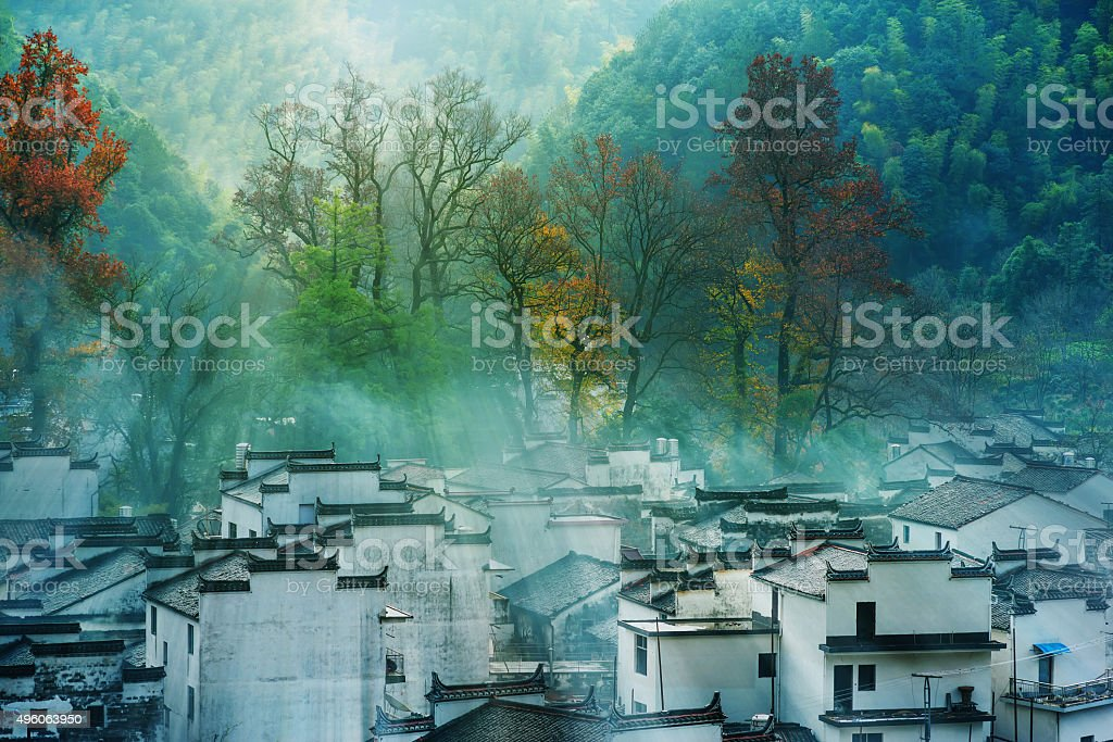 Chinese the ancient buildings stock photo