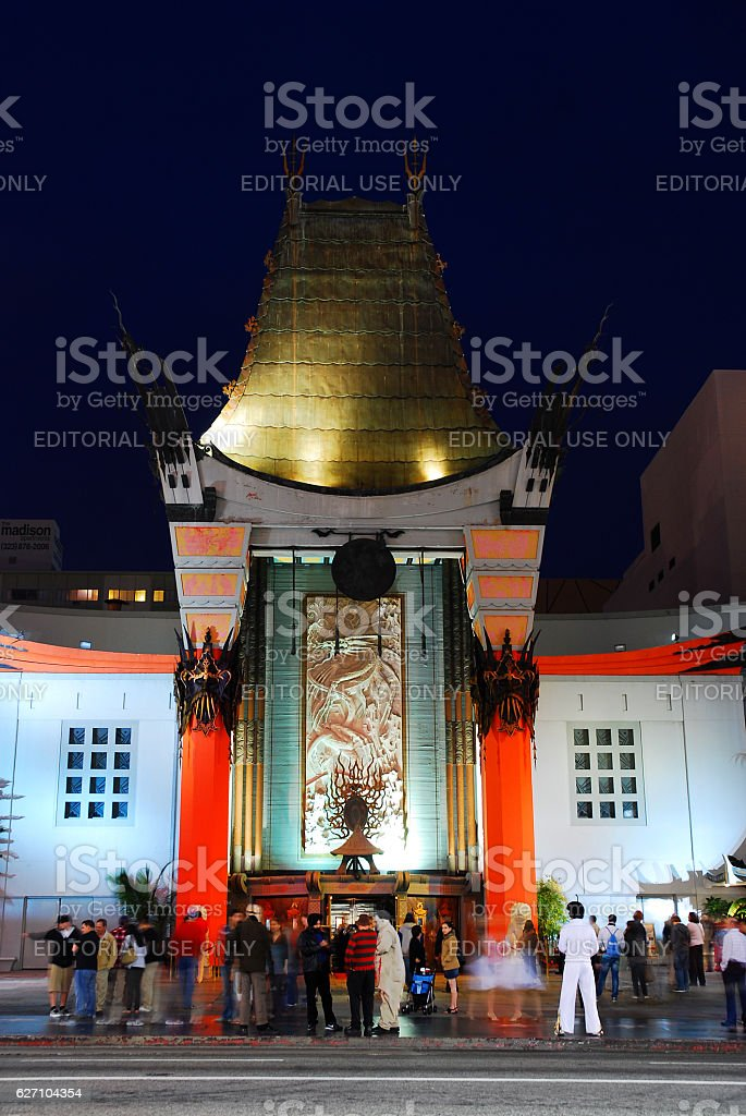 Chinese Theater, Hollywood stock photo