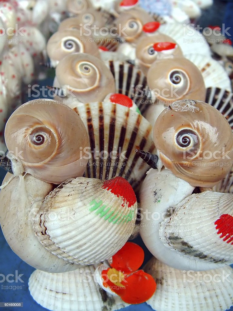 Chinese Toys of Shells royalty-free stock photo