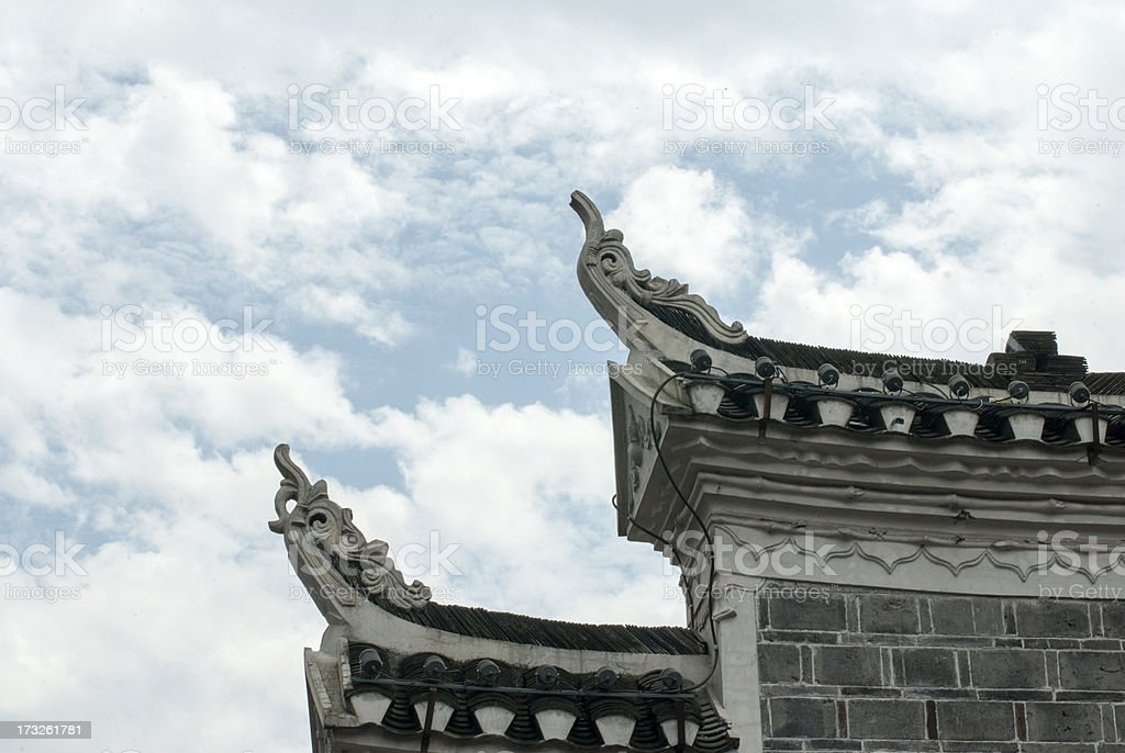 Chinese traditional architecture royalty-free stock photo