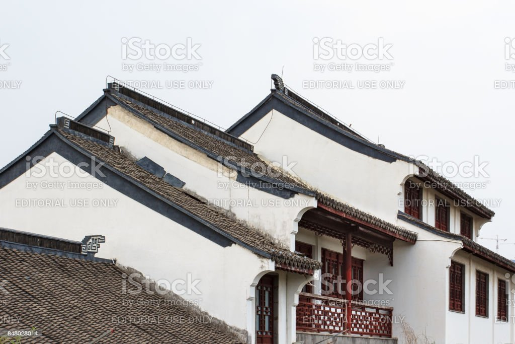 Chinese traditional buildings, anhui style stock photo