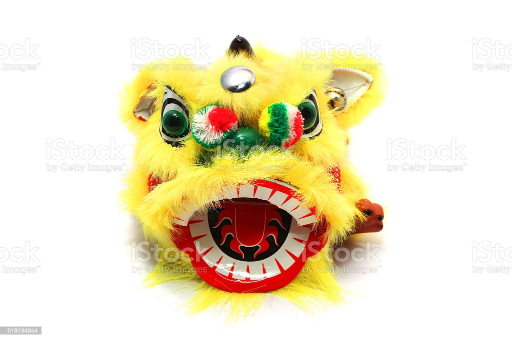 Chinese traditional dancing lion stock photo