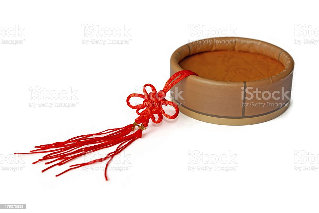 chinese traditional decorative red knit royalty-free stock photo