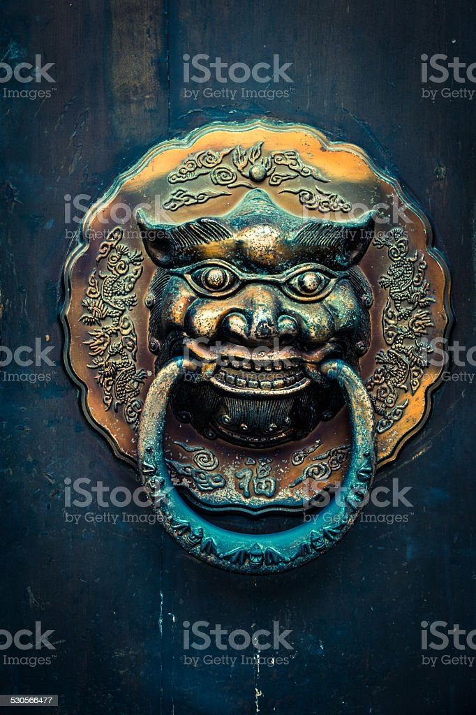 chinese traditional door knocker stock photo