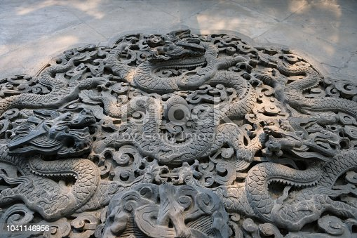 istock Chinese traditional Dragon carving 1041146956