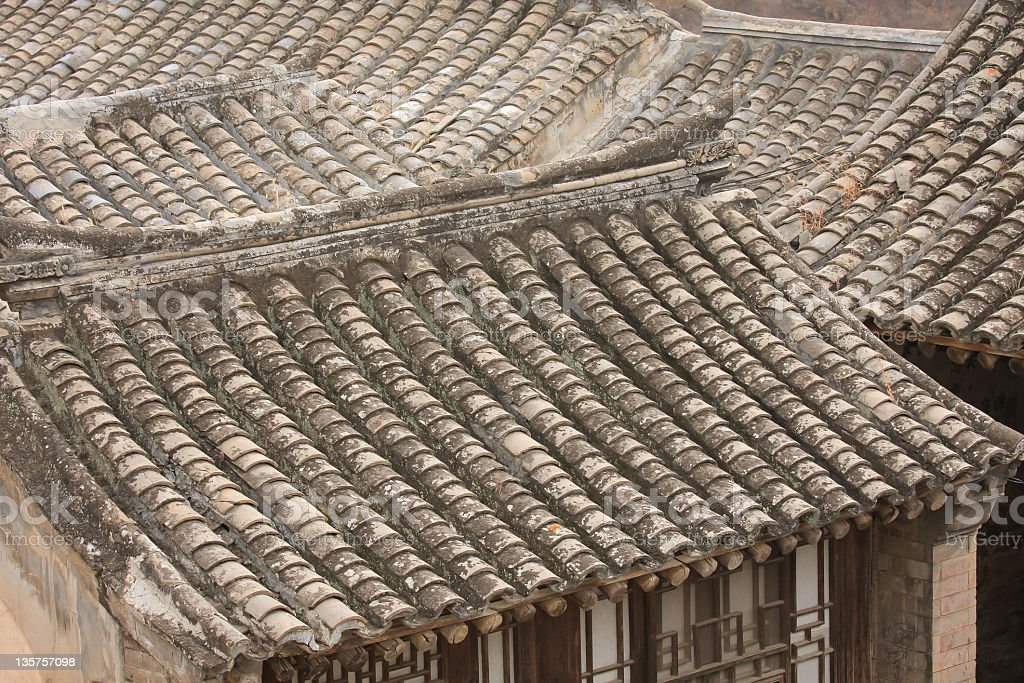 Chinese traditional dwellings in Hebei royalty-free stock photo