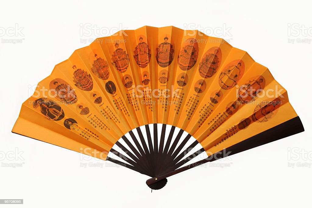 Chinese Traditional Folding Fan royalty-free stock photo