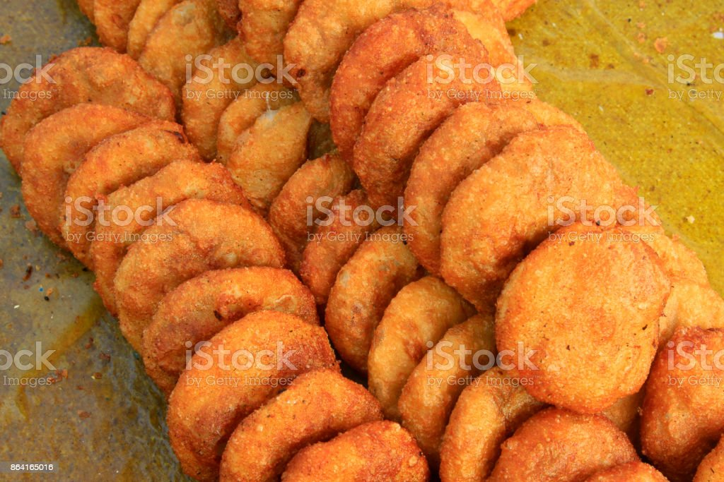 Chinese traditional fried cake, closeup of photo royalty-free stock photo
