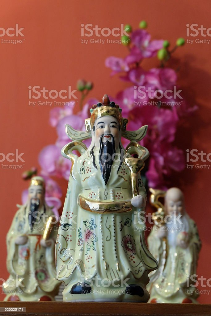 Chinese traditional Fu, Lu, and Shou stock photo