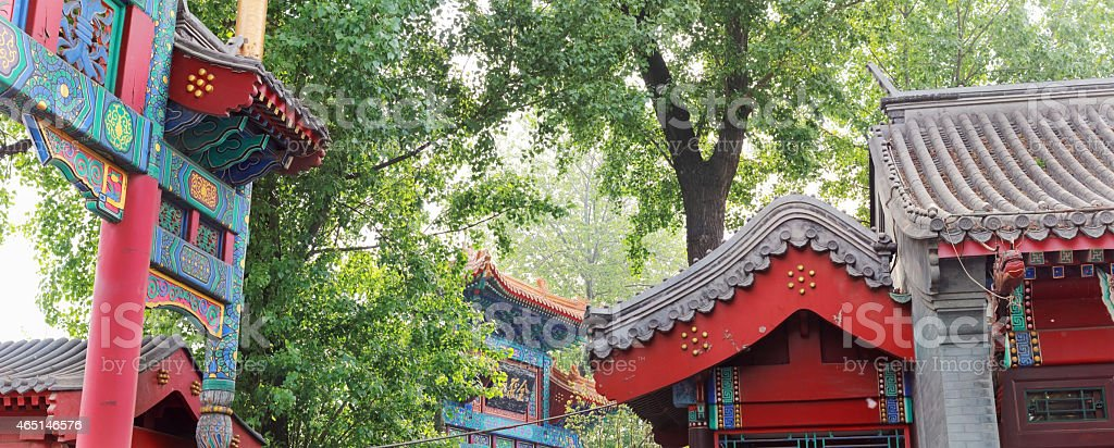 Chinese traditional Hutong roofing stock photo