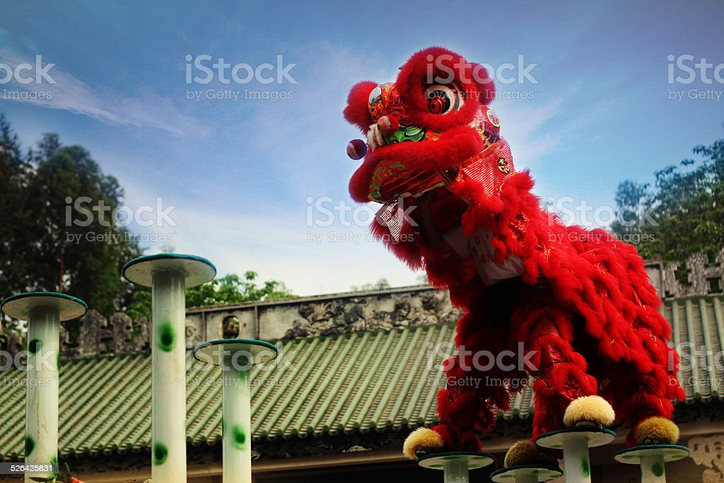 Chinese Traditional lion dancing royalty-free stock photo