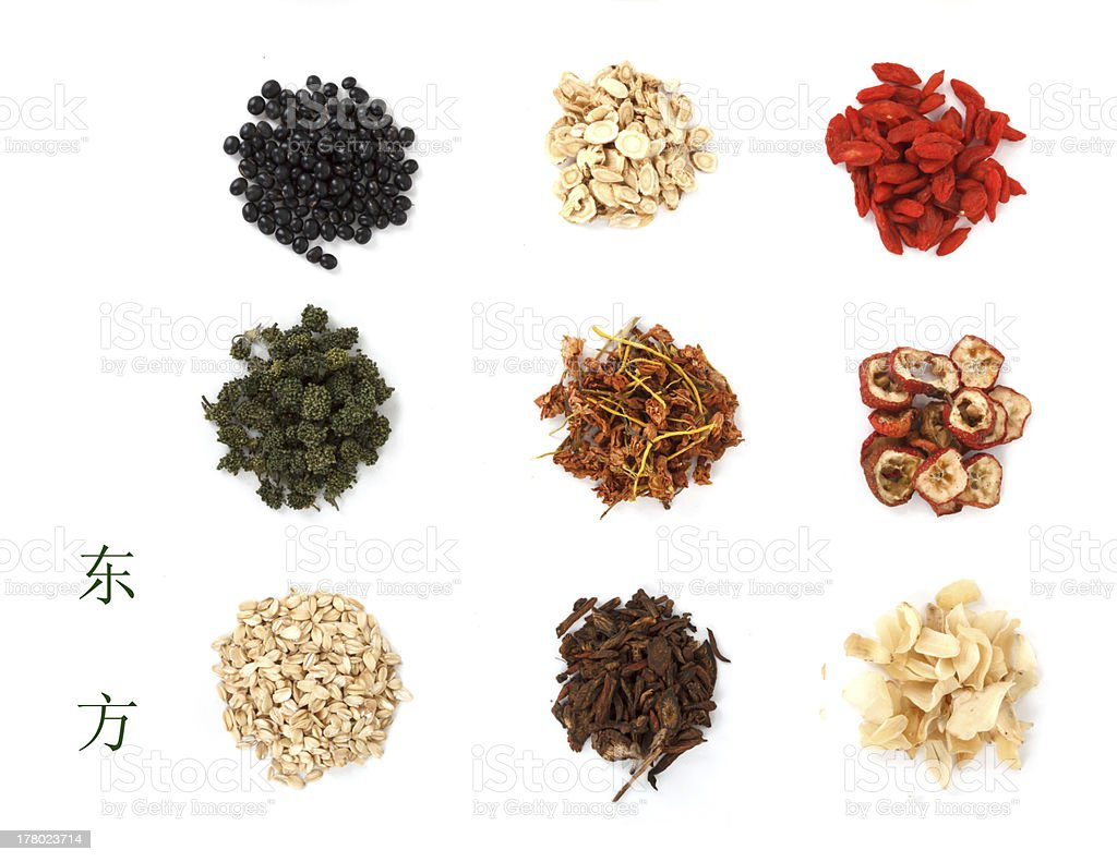 Chinese traditional medicinal herb collection, royalty-free stock photo